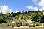 Israel, Haifa, the Bahai Shrine and gardens on the slope of Mount Carmel