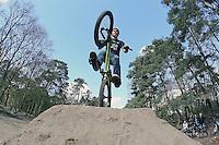 Luca Eckhardt mit seinem BMX Rad