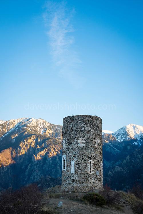 Tour de Goa, signal tower in the Pyrenees, near the Canigou mountain.