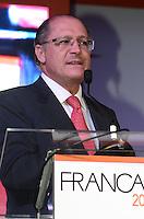 SAO PAULO, 26 DE JUNHO DE 2012 - ABERTURA FRANCAL 2012 - Governador Geraldo Alckmin em Cerimonia de abertura da Francal 2012, na manha desta terca feira, no Anhembi, regiao norte da capital. FOTO: ALEXANDRE MOREIRA - BRAZIL PHOTO PRESS