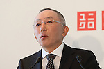 """Tadashi Yanai, president of Uniqlo announcing the launch of """"Clothes for Smiles"""" foundation', press conference on 16 Oct 2012 Tokyo Japan. (Photo by Motoo Naka)"""