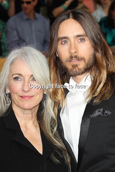 LOS ANGELES, CA - JANUARY 18: Constance Leto, Jared Leto attending the 2014 SAG Awards in Los Angeles, California on January 18, 2014.<br /> Credit: RTNUPA/MediaPunch<br /> Credit: MediaPunch/face to face<br /> - Germany, Austria, Switzerland, Eastern Europe, Australia, UK, USA, Taiwan, Singapore, China, Malaysia, Thailand, Sweden, Estonia, Latvia and Lithuania rights only -