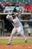 Elian Herrera #15 of the Great Lakes Loons at bat versus the Dayton Dragons at Fifth Third Field April 21, 2009 in Dayton, Ohio. (Photo by Brian Westerholt / Four Seam Images)