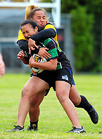 Wainuiomata HS v Wellington East Girls' College QF. 2017 Wellington Secondary Schools Condor Rugby Sevens tournament at Naenae College in Naenae, Wellington, New Zealand on Monday, 23 October 2017. Photo: Dave Lintott / lintottphoto.co.nz