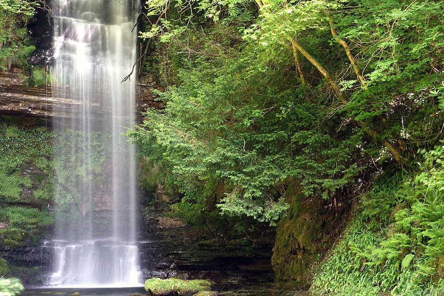 Glencar Falls, County Sligo, Ireland.