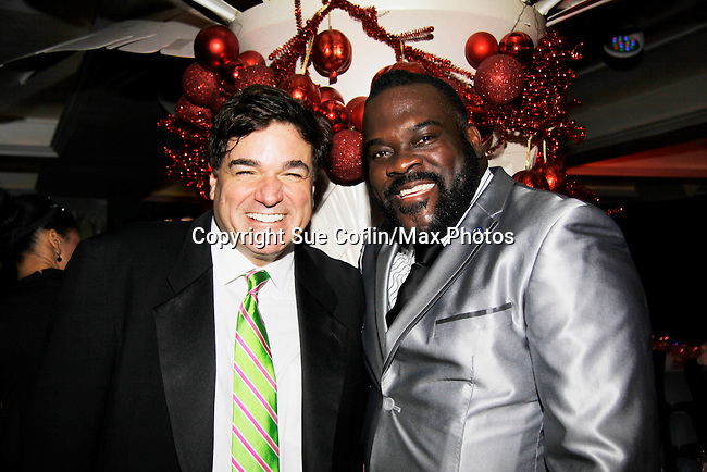 Dale Badway and Broadway performer Phillip Boykin - New Year's Eve 2016 at The Copacabana, New York City, New York. (Photo by Sue Coflin/Max Photos)  suemax13@optonline.net
