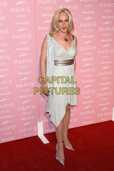 ALEXIS ARQUETTE.Paris Hilton's CD Release Party - Arrivals held at Privilege, West Hollywood, California, USA..August 18th, 2006.Ref: ADM/ZL.full length silver dress belt wrap shoes.www.capitalpictures.com.sales@capitalpictures.com.©Zach Lipp/AdMedia/Capital Pictures.