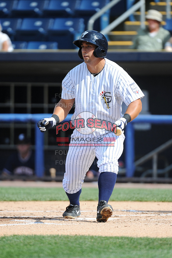 Staten Island Yankees infielder Kale Sumner (18) during game against the Connecticut Tigers at Richmond County Bank Ballpark at St.George on July 7, 2013 in Staten Island, NY.  Staten Island defeated Connecticut 6-2.  (Tomasso DeRosa/Four Seam Images)