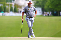 Lee Westwood on the 1st green during the BMW PGA Golf Championship at Wentworth Golf Course, Wentworth Drive, Virginia Water, England on 28 May 2017. Photo by Steve McCarthy/PRiME Media Images.
