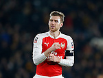 Per Mertesacker of Arsenal with dressing on a head injury  - English FA Cup - Hull City vs Arsenal - The KC Stadium - Hull - England - 8th March 2016 - Picture Simon Bellis/Sportimage