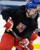 Michal Hlinka  (Czech Republic - 12) - Team Czech Republic practiced at the Urban Plains Center in Fargo, North Dakota, on Saturday, April 18, 2009 in the morning prior to their final match against Sweden during the 2009 World Under 18 Championship.