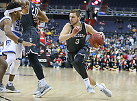 Washington, DC - March 11, 2018: Davidson Wildcats guard Jon Axel Gudmundsson (3) drives to the basket during the Atlantic 10 championship game between Rhode Island and Davidson at  Capital One Arena in Washington, DC.   (Photo by Elliott Brown/Media Images International)