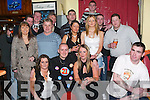 Friends: Enjoying a great night at his 21st birthday party in Route 66 Bar, Castle St, Tralee, on Saturday evening was Daniel OBrien of Shanakill, along with family and friends..