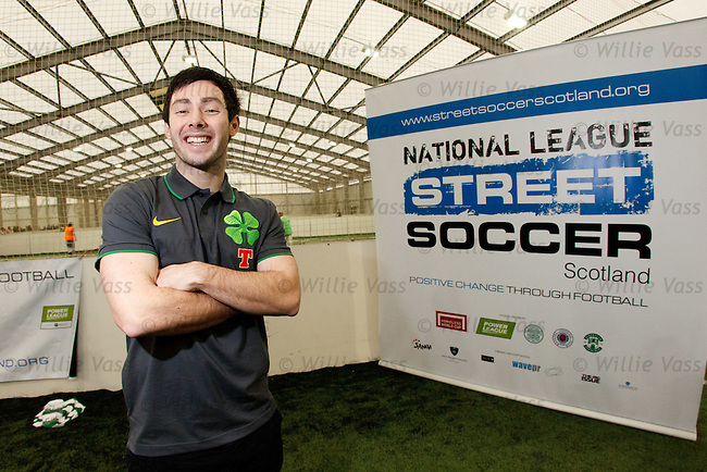 Celtic youngster Richard Towell promoting Street Soccer Scotland