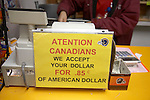 Sign on cash register in liquor store, Los Algodones, B.C, Mexico.