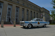 May 10, 2013  (Washington, DC)  A replica Metropolitan Police Car is parked in front of the D.C. Metropolitan Police Department headquarters May 10, 2013. (Photo by Don Baxter/Media Images International)