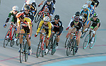 September 17, 2015 - Colorado Springs, Colorado, U.S. - Collegiate cyclists during a points race qualifier during the USA Cycling Collegiate Track National Championships, United States Olympic Training Center Velodrome, Colorado Springs, Colorado.