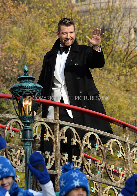 www.acepixs.com<br /> <br /> November 24 2016, New York City<br /> <br /> Brett Eldredge made an appearance at the 90th Annual Macy's Thanksgiving Day Parade on November 24, 2016 in New York City.<br /> <br /> By Line: Kristin Callahan/ACE Pictures<br /> <br /> <br /> ACE Pictures Inc<br /> Tel: 6467670430<br /> Email: info@acepixs.com<br /> www.acepixs.com