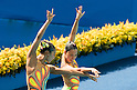 Yukiko Inui & Risako Mitsui (JPN), AUGUST 15, 2016 - Synchronized Swimming : Duets Technical Routine Preliminary at Maria Lenk Aquatic Centre during the Rio 2016 Olympic Games in Rio de Janeiro, Brazil. (Photo by Enrico Calderoni/AFLO SPORT)