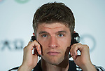 Thomas Muller of Bayern Munich attends a press conference ahead the friendly match against VfL Wolfsburg as part of the Audi Football Summit 2012 on July 26, 2012 at the Westin hotel in Guangzhou, China. Photo by Victor Fraile / The Power of Sport Images