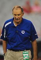 Sept. 27, 2009; Glendale, AZ, USA; Indianapolis Colts head team physician Dr. Arthur Rettig against the Arizona Cardinals at University of Phoenix Stadium. Indianapolis defeated Arizona 31-10. Mandatory Credit: Mark J. Rebilas-