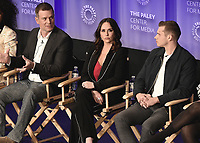 "HOLLYWOOD, CA - MARCH 17:  Peter Krause, Jennifer Love Hewitt and Oliver Stack at PaleyFest 2019 - Fox's ""9-1-1"" panel at the Dolby Theatre on March 17, 2019 in Hollywood, California. (Photo by Scott Kirkland/Fox/PictureGroup)"