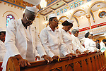 The congregation at Mount Lebanon Baptist Church in Brooklyn, New York on Sunday, September 22, 2008.