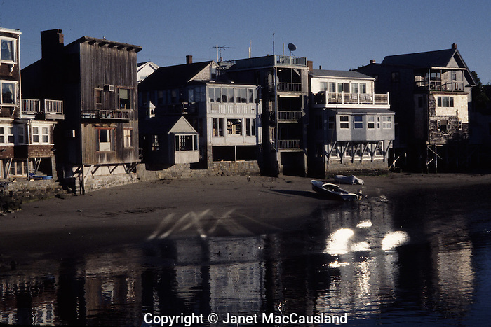 Reflections from windows at Low tide, Rockport, MA.