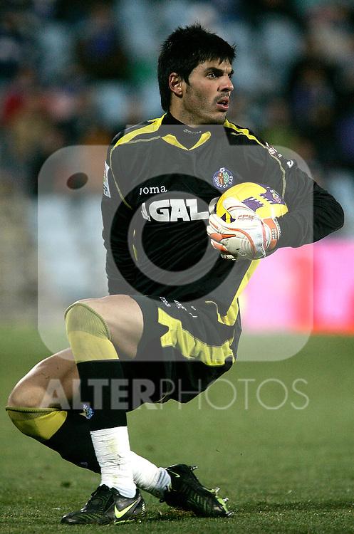 Getafe's Jacobo Sanz during La Liga match, January 25, 2009. (ALTERPHOTOS).