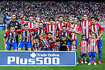 Atletico de Madrid's Jan Oblak Juanfran Torres Stefan Savic Diego Godin Filiper Lius Thiago Gabi Saul Koke Carrasco Gameiro during the match of La Liga Santander between Atletico de Madrid and Deportivo Alaves at Vicente Calderon Stadium. August 21, 2016. (ALTERPHOTOS/Rodrigo Jimenez)