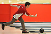Connor Egan of Chaminade rolls a frame during the NYSCHSAA boys bowling individual championship at AMF Babylon Lanes on Saturday, Mar. 5, 2016. He rolled a four-game series of 911. As the top finisher in the tournament, he qualified for a five-person step ladder format playoff in which he took third place.