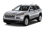 2018 Jeep Cherokee Latitude 5 Door SUV angular front stock photos of front three quarter view