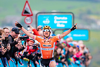 Picture by Alex Whitehead/SWpix.com - 04/05/2018 - Cycling - 2018 Asda Women's Tour de Yorkshire - Stage 1: Barnsley to Ilkley - Megan Guarnier of Boels Dolmans wins Stage 2 and the overall Asda Women's Tour de Yorkshire.