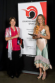 Masters Award winner Ali Gascoine with Helen Gallagher from Counties Manukau Active. Counties Manukau Sport 17th annual Sporting Excellence Awards held at the Telstra Clear Pacific Events Centre, Manukau City, on November 27th 2008.