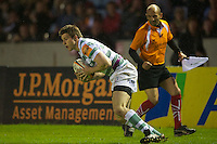 130712 Copyright onEdition 2012 ©.Free for editorial use image, please credit: onEdition..Conor Gaston of London Irish in action against Saracens at The Stoop, Twickenham in the first round of The J.P. Morgan Asset Management Premiership Rugby 7s Series...The J.P. Morgan Asset Management Premiership Rugby 7s Series kicked off again for the third season on Friday 13th July at The Stoop, Twickenham with Pool B being played at Edgeley Park, Stockport on Friday, 20th July, Pool C at Kingsholm Gloucester on Thursday, 26th July and the Final being played at The Recreation Ground, Bath on Friday 3rd August. The innovative tournament, which involves all 12 Premiership Rugby clubs, offers a fantastic platform for some of the country's finest young athletes to be exposed to the excitement, pressures and skills required to compete at an elite level...The 12 Premiership Rugby clubs are divided into three groups for the tournament, with the winner and runner up of each regional event going through to the Final. There are six games each evening, with each match consisting of two 7 minute halves with a 2 minute break at half time...For additional images please go to: http://www.w-w-i.com/jp_morgan_premiership_sevens/..For press contacts contact: Beth Begg at brandRapport on D: +44 (0)20 7932 5813 M: +44 (0)7900 88231 E: BBegg@brand-rapport.com..If you require a higher resolution image or you have any other onEdition photographic enquiries, please contact onEdition on 0845 900 2 900 or email info@onEdition.com.This image is copyright the onEdition 2012©..This image has been supplied by onEdition and must be credited onEdition. The author is asserting his full Moral rights in relation to the publication of this image. Rights for onward transmission of any image or file is not granted or implied. Changing or deleting Copyright information is illegal as specified in the Copyright, Design and Patents Act 1988. If you are in any way unsure of your right to publish this image please cont