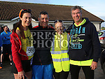 Catherine Rogers, Aidan Hand, Bernie Dunne and Andy Dunne at the Annagassan 10km.<br /> <br /> <br /> Photo - Jenny Matthews