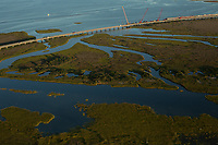 Aerials of The Bonner Bridge, New Inlet, and The Midgett-Salvo Cemetery in Salvo, NC Friday, September 8, 2017. (Justin Cook)