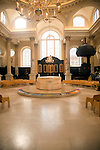 Parish church of St Stephen, Walbrook, City of London, London designed by Sir Christopher Wren, altar in Italian marble by Henry Moore