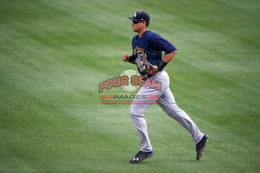 Scranton/Wilkes-Barre RailRiders right fielder Aaron Judge (99) jogs to the dugout during a game against the Buffalo Bisons on July 2, 2016 at Coca-Cola Field in Buffalo, New York.  Scranton defeated Buffalo 5-1.  (Mike Janes/Four Seam Images)