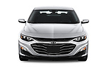 Car photography straight front view of a 2019 Chevrolet Malibu LT 4 Door Sedan