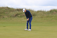 Geoff Lenehan (Portmarnock) on the 4th green during Round 4 of the East of Ireland Amateur Open Championship at Co. Louth Golf Club in Baltray on Monday 5th June 2017.<br /> Photo: Golffile / Thos Caffrey.<br /> <br /> All photo usage must carry mandatory copyright credit     (&copy; Golffile | Thos Caffrey)