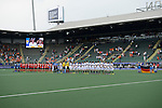 The Hague, Netherlands, June 10: Players of Korea and Germany line up prior to the field hockey group match (Men - Group B) between Germany and Korea on June 10, 2014 during the World Cup 2014 at Kyocera Stadium in The Hague, Netherlands. Final score 6-1 (3-0) (Photo by Dirk Markgraf / www.265-images.com) *** Local caption ***
