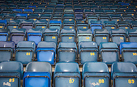 General view of the away end seating at Wycombe Wanderers Stadium, Adams Park, High Wycombe, Bucks, England on 12 July 2015. Photo by Andy Rowland.