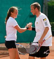 19-08-11, Tennis, Amstelveen, Nationale Tennis Kampioenschappen, NTK, Karen Nijssen en Jake Mak
