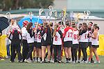 Santa Barbara, CA 02/19/11 - The Chaparral team readies to take the field against Memorial High School from Houston, Texas.
