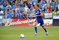 Davy Arnaud making his 200th appearance for the  Wizards...Kansas City Wizards defeated Philadelphia Union 2-0, at Community America Ballpark, Kansas City, Kansas.