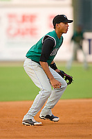 Shortstop Ehire Adrianza #15 of the Augusta GreenJackets on defense versus the Kannapolis Intimidators at Fieldcrest Cannon Stadium July 24, 2009 in Kannapolis, North Carolina. (Photo by Brian Westerholt / Four Seam Images)