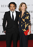 Alejandro Gonzalez Inarritu and Maria Hagerman arriving at the world premiere of The Revenant held at TCL Chinese Theater Hollywood, CA. December 16, 2015.