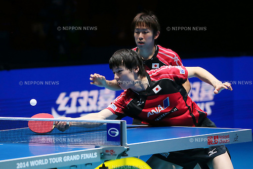 (U to D) <br /> Koki Niwa, <br /> Kenta Matsudaira (JPN), <br /> DECEMBER 13, 2014 - Table Tennis : <br /> GAC Group 2014 ITTF World Tour Grand Finals <br /> Men's Doubles Final <br /> at Indoor Stadium Huamark, Bangkok, Thailand <br /> (Photo by YUTAKA/AFLO SPORT) [1040]