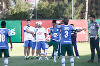 SÃO PAULO, 13 DE MAIO 2013 - TREINO PALMEIRAS - o tecnico Gilson Kleina com jogadores do Palmeiras durante treino na Academia de Futebol, na tarde desta segunda-feira(13) - FOTO: LOLA OLIVEIRA/BRAZIL PHOTO PRESS